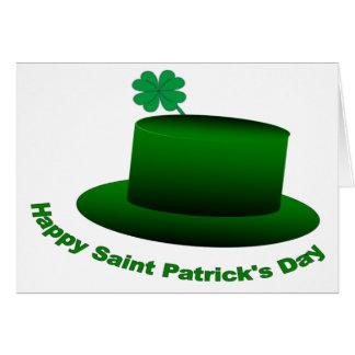 Happy Saint Patricks Day Hat Card