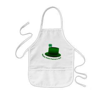 Happy Saint Patricks Day Hat Kids' Apron