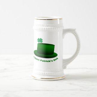 Happy Saint Patricks Day Hat 18 Oz Beer Stein