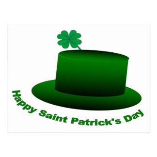 Happy Saint Patricks Day Hat Postcard