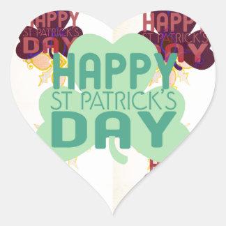 Happy Saint Patrick's Day Heart Sticker