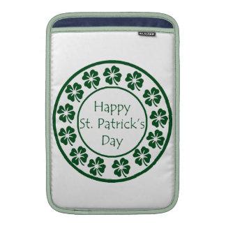 Happy Saint Patricks Day MacBook Sleeves