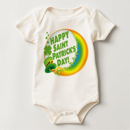 Happy Saint Patricks Day Irish Baby Bodysuit