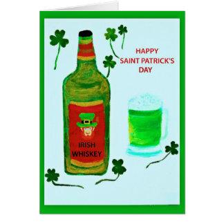 Happy Saint Patrick's Day, leprachaun, shamrocks Card