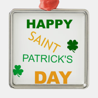 Happy Saint Patrick's Day Metal Ornament