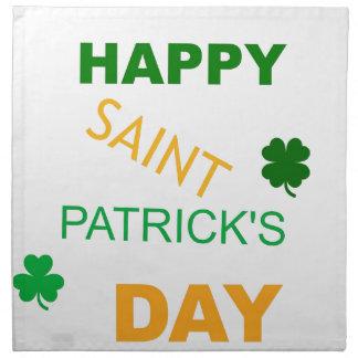 Happy Saint Patrick's Day Cloth Napkin