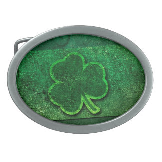 Happy Saint Patrick's Day Oval Belt Buckle