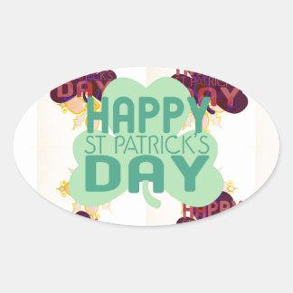 Happy Saint Patrick's Day Oval Sticker