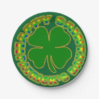 Happy Saint Patrick's Day Paper Plate