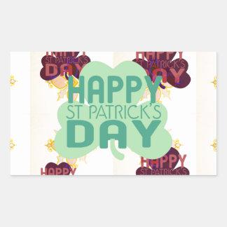 Happy Saint Patrick's Day Rectangular Sticker