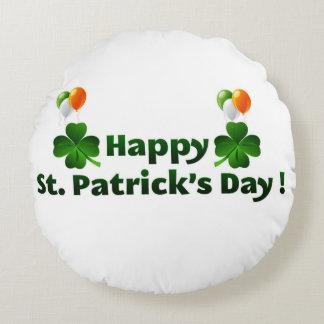 Happy Saint Patricks Day Round Cushion