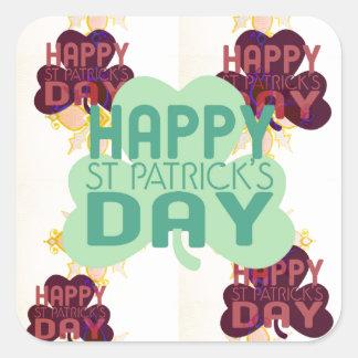 Happy Saint Patrick's Day Square Sticker