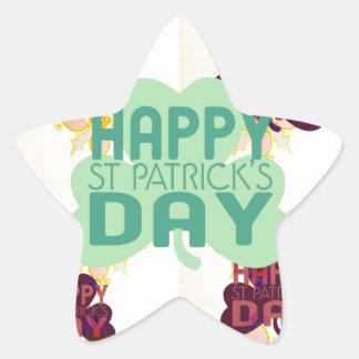 Happy Saint Patrick's Day Star Sticker