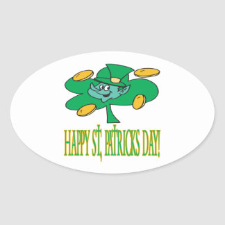 Happy Saint Patricks Day Oval Sticker