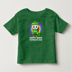 Happy Saint Patrick's Day Toddler T-shirt at Zazzle