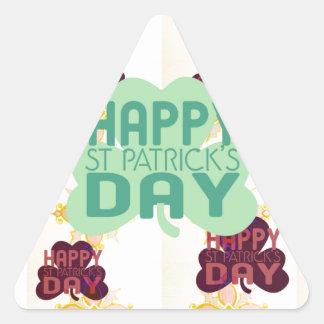 Happy Saint Patrick's Day Triangle Sticker