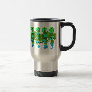 Happy Saint Pats Day 15 Oz Stainless Steel Travel Mug