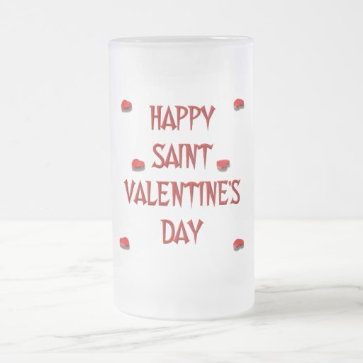 Happy Saint Valentine's Day (Candy Boxes) 16 Oz Frosted Glass Beer Mug