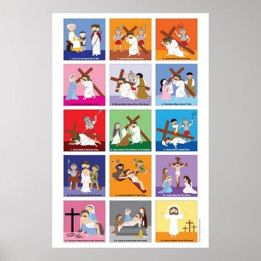 Happy Saints Way of the Cross Print
