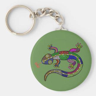Happy salamander keychain