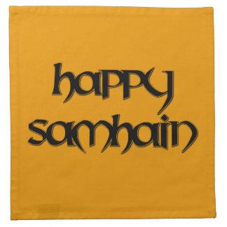 Happy Samhain Cocktail Napkins (Cloth)