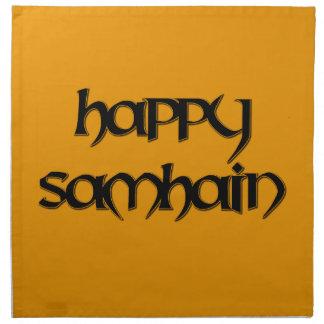 Happy Samhain Dinner Napkin (Cloth)