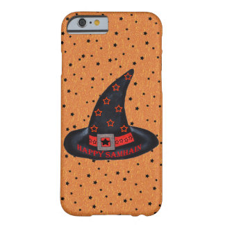 Happy Samhain Witch Hat Stars Magic Wiccan Barely There iPhone 6 Case