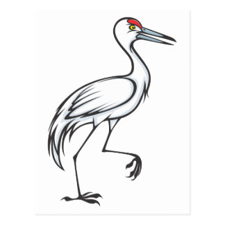 Happy Sandhill Crane Bird Postcard