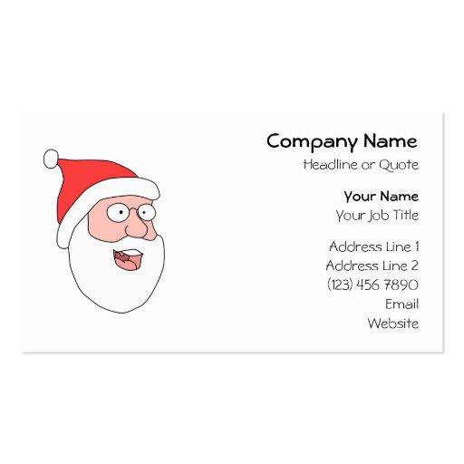 Happy Santa. Business Card Templates