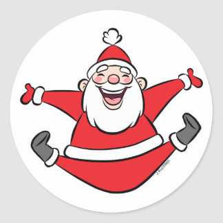 Happy Santa Classic Round Sticker