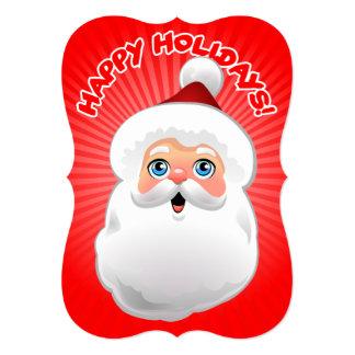 Happy Santa Claus 5x7 Paper Invitation Card