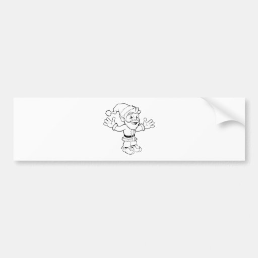 Happy Santa Claus Bumper Sticker