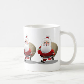 Happy Santa Claus Cartoon Coffee Mug