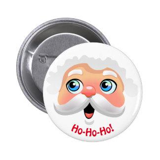 Happy Santa Claus Cartoon Pinback Button
