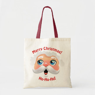 Happy Santa Claus Cartoon Tote Bag