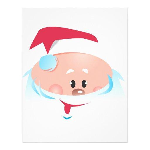 """Happy Santa Claus face 8.5"""" X 11"""" Flyer"""