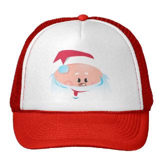 Happy Santa Claus face Cap