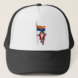 Happy Santa Claus On The Way To Arizona Trucker Hat