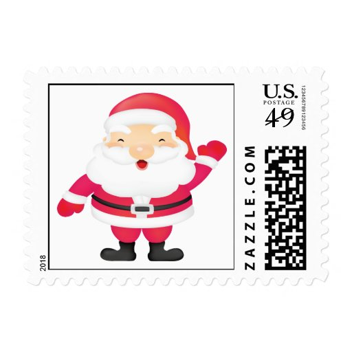 Happy Santa Claus Postage Stamps