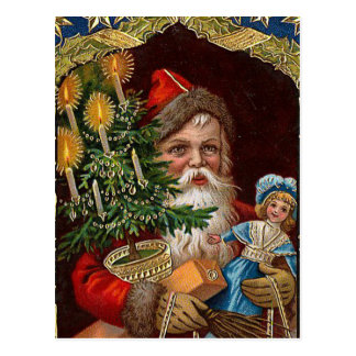 """Happy Santa Claus"" Postcard"