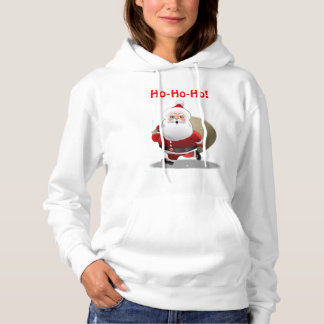 Happy Santa Claus With A Sack Full Of Gifts Hoodie