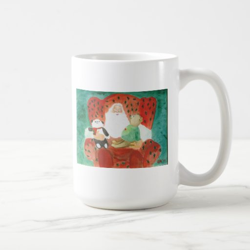 happy santa coffee mug