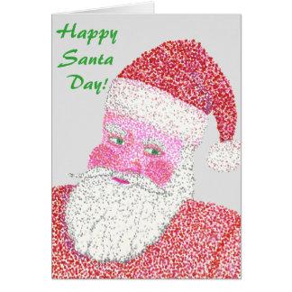 Happy Santa Day Santa Claus Greeting Cards