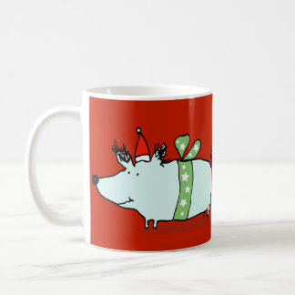 Happy Santa Dog Christmas Mug