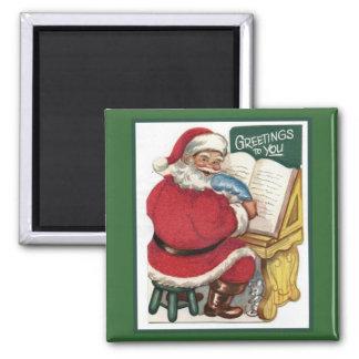 Happy Santa Greetings Magnet
