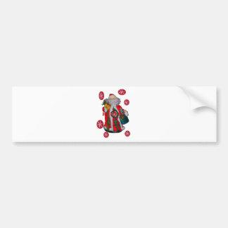 Happy Santa Hohoho Greetings graphic text art desi Bumper Sticker
