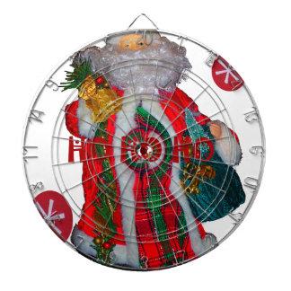 Happy Santa Hohoho Greetings graphic text art desi Dartboards