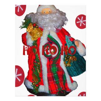 Happy Santa Hohoho Greetings graphic text art desi Letterhead