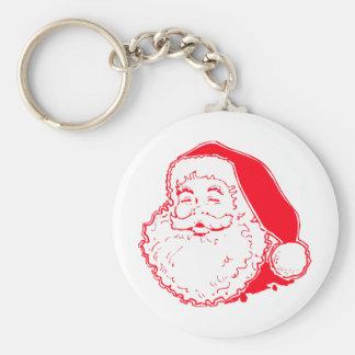 Happy Santa Keychain
