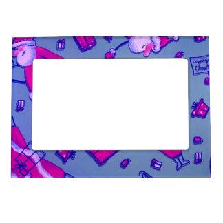 happy santa picture frame magnet